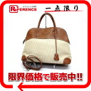 "Kurino orchid X leather natural X brown / silver metal fittings E 刻 》 with 37 HERMES ""ボリード"" handbag shoulder straps for 《"