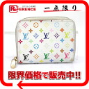 "Louis Vuitton monogram multicolored ""ジッピーコインパース"" coin case Bronn (white) M66548 》 02P02Aug14 for 《"
