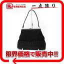 Pau Luke canvas X knitting leather pouch handbag black 》 02P02Aug14 including it for 《