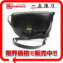 HERMES shoulder bag boxcalf black gold metal fittings P 刻 》 for 《