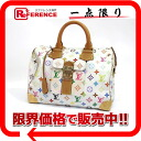 "30 Louis Vuitton monogram multicolored ""speedy"" mini-Boston handbag Bronn (white) M92643 》 for 《"