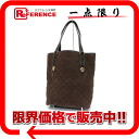 153009 《 correspondence 》 02P02Aug14 of gucci GG suede tote bag Brown line