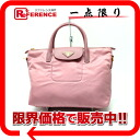 PRADA nylon X leather 2WAY tote bag pink BN2106 beauty product 》 for 《