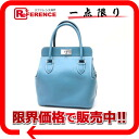 "20 HERMES ""toolbox"" handbag swift blue Gene silver metal fittings P 刻新品同様 》 for 《"