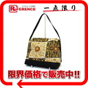 Gianni Versace Medusa pattern canvas 2WAY shoulder bag gold system 》 02P05Apr14M for 《