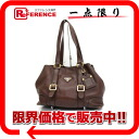 PRADA leather tote bag brown BR3050 》 for 《