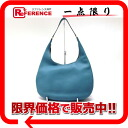 "HERMES ""ガオ"" shoulder bag avian Yong Clement's blue Gene gold metal fittings B 刻 》 for 《"