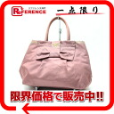PRADA nylon ribbon tote bag old pink 》 for 《
