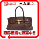 "HERMES highest peak bag ""shoulder Birkin"" avian Yong Clement's dark brown gold metal fittings H 刻 》 02P05Apr14M for 《"