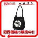 CHANEL camellia leather tote bag black 》 02P05Apr14M for 《