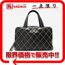 CHANEL calfskin Wilde stitch handbag black 》 for 《