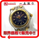 タグホイヤーセルシリーズプロフェッショナル 200M men watch SS/GP blue clockface self-winding watch BS87.006E 》 for 《
