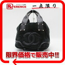 "Chanel Shearling CC square Tote Bag Black A32346 ""enabled."""