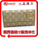 "Gucci LOVELY ( lovely ) guccissima W hook length wallet champagne 245723 ""enabled."""
