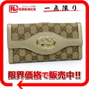 Gucci SUKEY( Sioux key) GG W hook long wallet beige X champagne gold system 282426 》 for 《