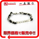 CHANEL 96P chain bracelet silver / black 》 02P05Apr14M for 《