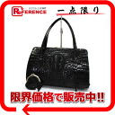 Caiman pouch handbag black 》 for 《
