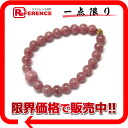 "Recycled jewelry pink tourmaline beads bracelets K18 fittings ""response.""-02P02Aug14"
