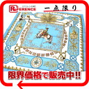 "HERMES silk scarf ""boyfriend ""LVDOVICVS MAGNVS( Louis XIV) light blue system 》 02P02Aug14 that I sat astride a white horse for 《"