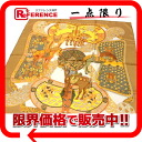 "》 of HERMES silk scarf ""boyfriend"" ART des STEPPES( step art) Brown line for 《"