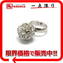 "Chanel rhinestone CC ring Silver ""support."""