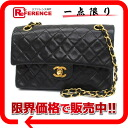 CHANEL lambskin matelasse quilting W chain shoulder bag black 》 for 《