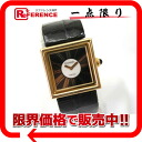 CHANEL mademoiselle black co-leather belt Lady's watch K18YG black X gold 》 fs3gm 02P05Apr14M for 《