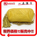 Yellow 》 with the CHANEL lambskin quilting chain shoulder bag barrel fringe for 《