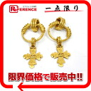 "Chanel 94 p CC cross earrings gold ""response."""