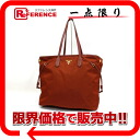 PRADA TESSUTO+SAFFIANO( テスート + サフィアーノ) nylon tote bag brown BR4001 》 for 《
