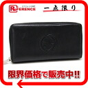 Gucci leather interlocking grip G round fastener long wallet black 268500 》 for 《