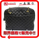 CHANEL lambskin matelasse chain shoulder tote bag black 》 for 《