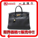 "40 HERMES highest peak handbag ""Birkin"" avian Yong Clement's black gold metal fittings B 刻 》 for 《"