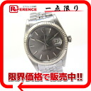 """Rolex Oyster Perpetual Datejust mens watch SS WG bezel automatic winding 1601 s correspondence."""""""