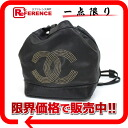 Black 》 with the CHANEL lambskin CC studs drawstring purse shoulder bag porch for 《