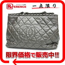 CHANEL calfskin chain me quilting chain tote bag metallic gray A50495 beauty product 》 for 《