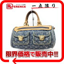 "Louis Vuitton Monogram Denim ""neo speedy"" handbag blue M95019 ""enabled."""
