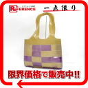 CHANEL vinyl patchwork tote bag beige X purple 》 for 《