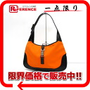 Gucci Jackie semi-shoulder bag orange X black 》 for 《