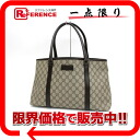 Gucci GG plus tote bag beige X dark brown 114595 》 02P02Aug14 for 《