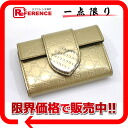 Gucci HEART (heart) micro guccissima 6-unused key case gold 203551 02P02Aug14? s support.""