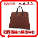 "I 刻 》 of HERMES ""サックイブー MM"" canvas handbag Brown line for 《"