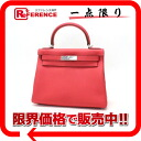 "Hermès ""Kelly 28"" handbags in the seam with shoulder strap トリヨンクレマンス ローズジャイ pool silver bracket R time ""dealing."""
