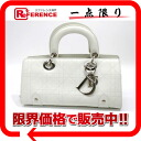 White 》 with the dior lady dior (カナージュ) leather mini-handbag party bag key for 《