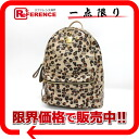 "MCM elegante studded medium backpack logo x Leopard ""support."""