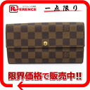 """Long wallet N61734 》 with the ルイヴィトンダミエ """"ポルトフォイユ Sarah"""" fastener for 《"""
