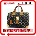 "Louis Vuitton Monogram multicolor speedy 30 handbag mini Boston noir (black) M92642 ""enabled."""