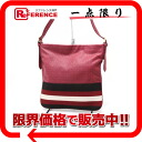 Shoulder bag red 》 02P02Aug14 that there is no Barry punching leather stripe gusset in for 《