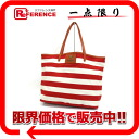 Burberry blue label horizontal stripe tote bag red X white X brown 》 02P02Aug14 for 《