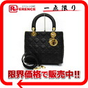 Dior lady dior lambskin 2WAY handbag black 》 for 《
